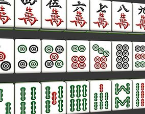 3D asset low-poly mahjong