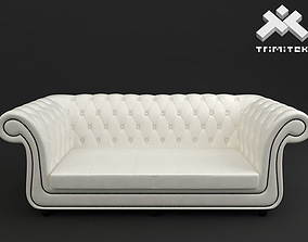 3D model 3 seat Chesterfield style sofa