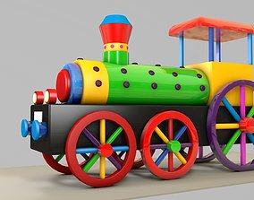 Toy Train 3d Model realtime