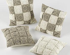 3D model Wicker pillows