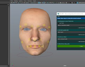 AS SFC - Secondary Face Controls for Maya 3D model