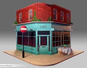 3D model realtime Coffee Shop