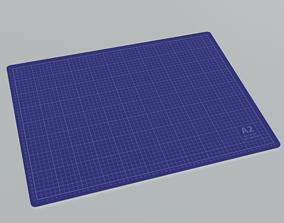 3D model Cutting Mat A2 Blue