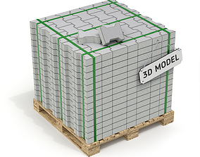 3D Paving Stones and Wooden Pallet