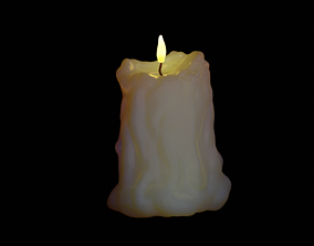 3D realistic candle