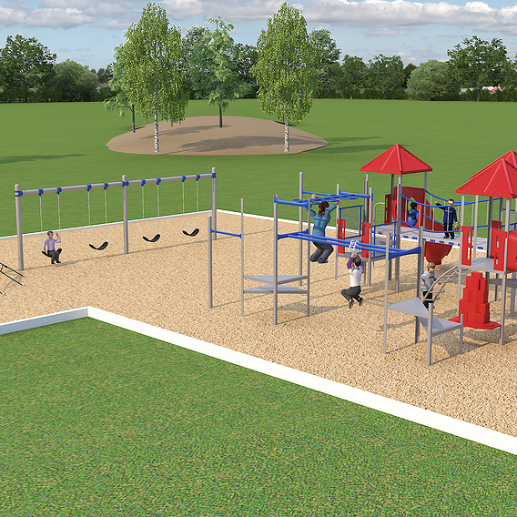 Architectural Rendering Colorado Springs CO  of Playground Site