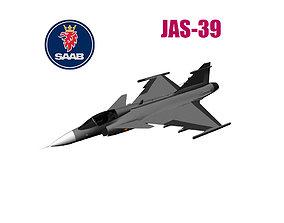 3D model JAS-39 Gripen
