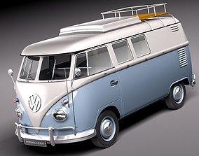 Volkswagen Camper Van 1950 3D Model