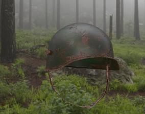 WWI helmet lowpoly 3D asset