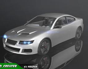 game-ready Lowpoly Sports Car Racing Car 3D Model