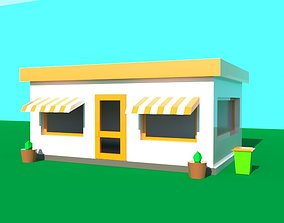 Fastfood poly model 3D asset game-ready