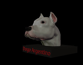 3D printable model Dogo Argentino Bust