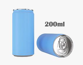 3D model Beverage slim can 200ml