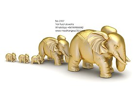 3D print model 2107 Elephant Pendant