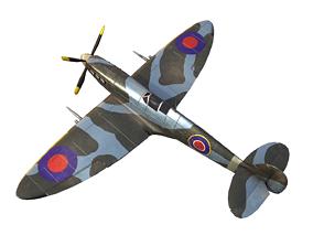 3D model Supermarine Spitfire aircraft airplane