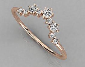 jewelry light Women solitaire ring 3dm render detail