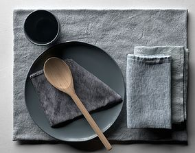Napkins with Tableware 3D