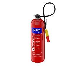 Water Mist Fire Extinguisher 3D model