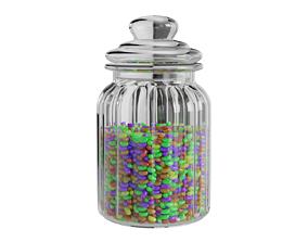 3D food Glass candy jar