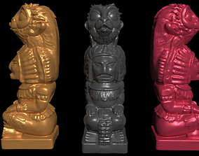 Mayan statue with monkey head stl 3D printable model