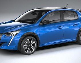 3D model corona Peugeot e-208 2020