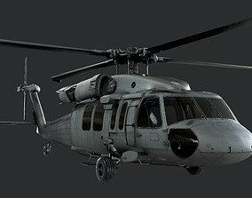 Sikorsky UH60 Black Hawk US Military Helicopter 3D 1