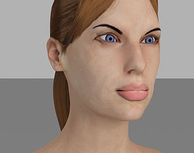 3D asset Detailed female head