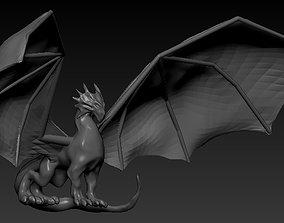 3D model low-poly Dragon castle