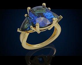 3D print model Three gemstone ring Cg 3 6
