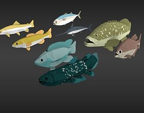 fish pack 3D asset