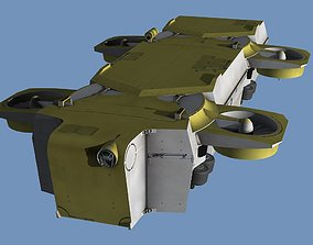 3D model animated Hover bus