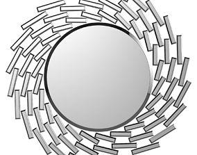 3D Pennsburg Sunburst Silver Wall Mirror WDLN2452