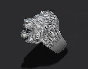 lion ring 3D print model diamond