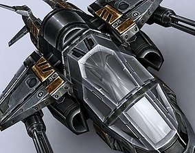 VR / AR ready 3DRT - Sci-Fi Gunship 1