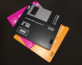 Floppy Disk 3D asset game-ready