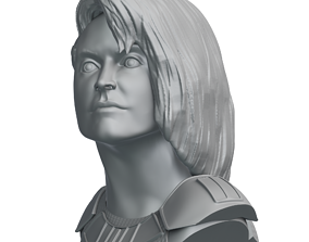 Cara Dune Statue - The Mandalorian 3D printable model