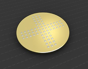 3D print model gold Cross Medallion
