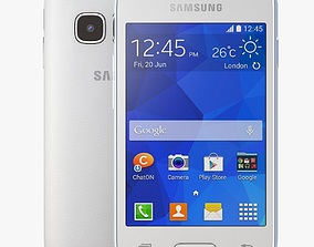3D model Samsung Galaxy Young 2 White