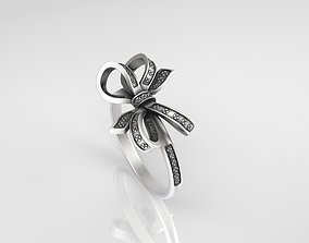 3D print model Silver Ring Ribbon