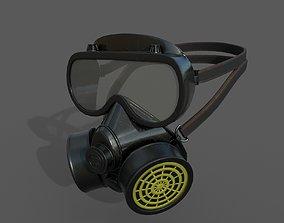realtime Gas mask helmet 3d model military combat