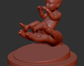 3D printable model Baby and Hand kid