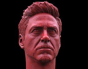 Tony Stark-Robert Downey JR Head 3D printable model