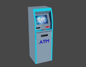 ATM Machine 3D model animated