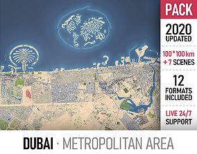 3D model Dubai Metropolitan Area marina