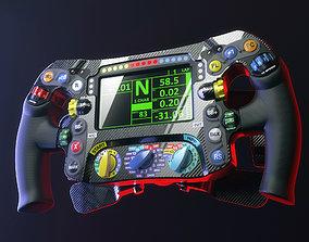 Mercedes W07 F1 steering wheel 3D