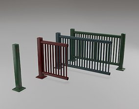 3D model Harbor Railing Modular - Game ready