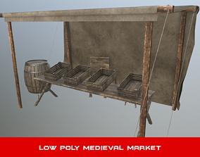 3D model Medieval Street Market