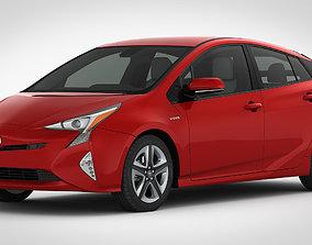 Toyota Prius 2016 detailed interior 3D