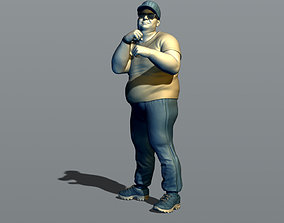 A man in a fighting stance 3D print model