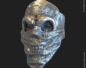 3D printable model Skull Gangster vol2 ring